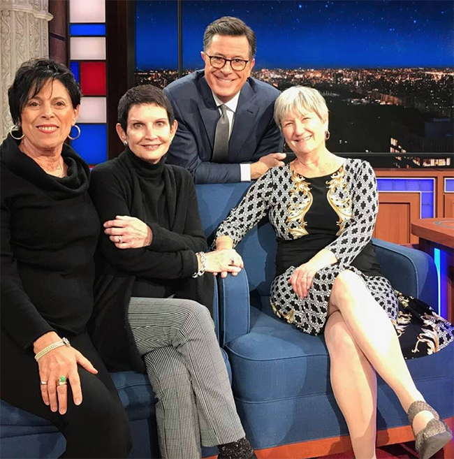 Wendy with Stephen Colbert